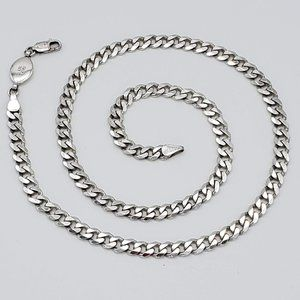 "20"" 5mm Sterling Silver Curb Chain Necklace"